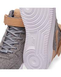 Nike Gray W Air Force 1 '07 Mid Premium