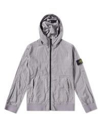 Stone Island Purple Nylon Metal Watro Hooded Jacket for men