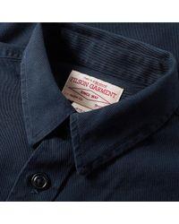 Filson Blue Twill Chino Shirt for men