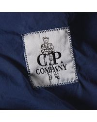 C P Company Blue Arm Lens Bomber Jacket for men
