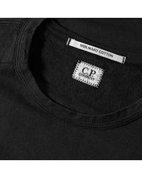 C P Company Black Classic Logo Tee for men