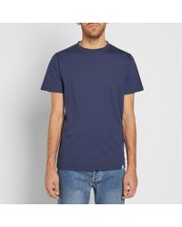 Norse Projects - Blue Niels Logo Tee for Men - Lyst