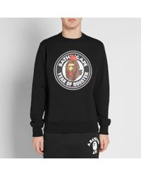 A Bathing Ape Black Year Of The Rooster Crew Sweat for men