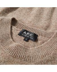 A.P.C. Brown Ringo Crew Knit for men