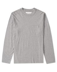 Our Legacy Brown Long Sleeve Box Tee for men