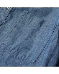 NN07 Blue Button Down Falk Chambray Shirt for men