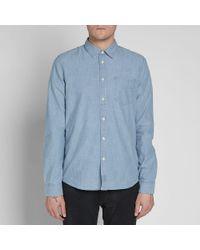 Nudie Jeans - Blue Nudie Henry Shirt for Men - Lyst