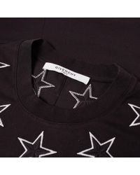 Givenchy | Black Oversize Stars Tee for Men | Lyst