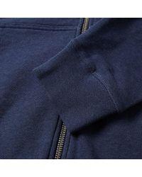 Sunspel - Blue Loopback Zip Hoody for Men - Lyst