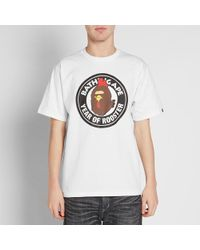 A Bathing Ape White Year Of The Rooster Milo Tee for men