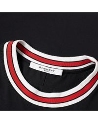 Givenchy Black Tipped Logo Tee for men