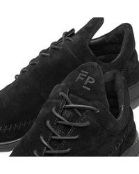 Filling Pieces Black Low Top Apache Runner for men