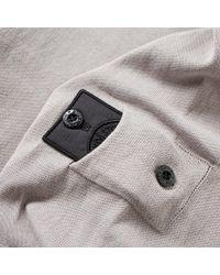 Stone Island Gray Crepe Cotton Crew Knit for men