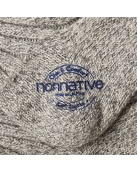 Nonnative Gray Dweller Line Sock for men