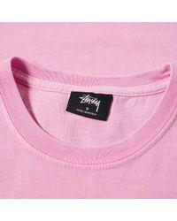 Stussy Pink S Blend Pigment Dyed Pocket Tee for men