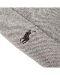 Polo Ralph Lauren | Gray Beanie for Men | Lyst