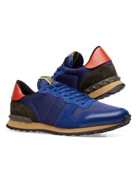 Valentino Blue Rockrunner Sneaker for men