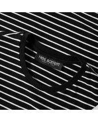 Neil Barrett Black Modernist Stripe Tee for men