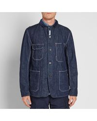Engineered Garments Blue Coverall Jacket for men