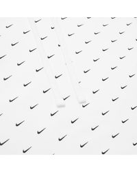 Nike White Swoosh Pullover Hoodie for men