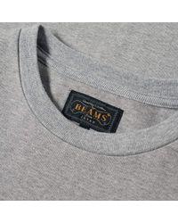 Beams Plus - Gray Pocket Jersey Crew for Men - Lyst