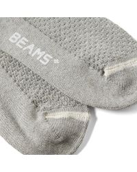 Beams Plus Gray Alan Crazy Sock for men