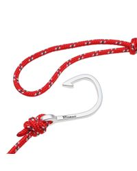 Miansai Hook Rope Bracelet Red for men