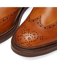 Tricker's Brown Tricker's Henry Brogue Chelsea Boot for men