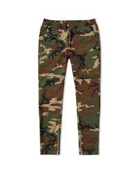 Sophnet Green Stretch Zip Easy Pant for men