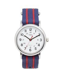 Timex Blue Weekender Slip Thru Watch for men