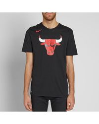 Nike Black Chicago Bulls Logo Tee for men