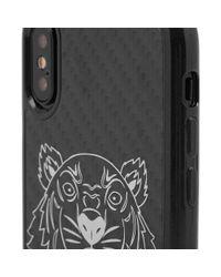KENZO - Black Carbon Fibre Iphone X Case for Men - Lyst