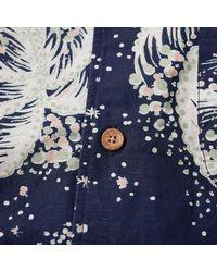 YMC Blue Navy Cotton Malick Shirt for men