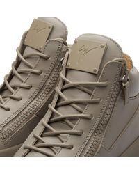 Giuseppe Zanotti Gray Double Zip Mid Sneaker