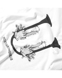 Undercover White Trumpet Tee for men