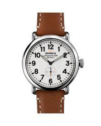 Shinola Brown Runwell 41mm Watch for men