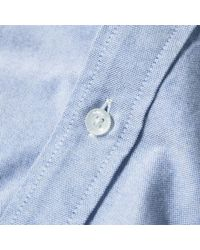 A Bathing Ape Blue One Point Oxford Shirt for men