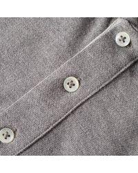 Polo Ralph Lauren Gray Custom Fit Tipped Polo for men