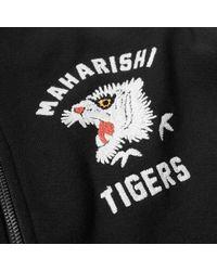 Maharishi Black White Tiger Chest Hooded Sweat for men