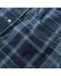 Gitman Brothers Vintage Blue Archive Madras Shirt for men