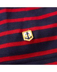 Armor Lux Blue 2297 Long Sleeve Mariniere Heritage Tee