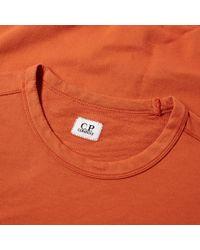 C P Company Orange Arm Lens Crew Sweat for men