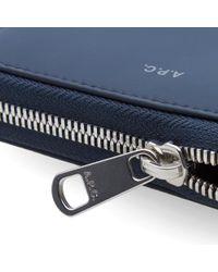 A.P.C. Blue Dallas Zip Wallet