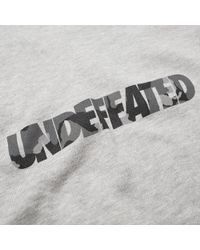 Undefeated Gray Camo Crew Sweat for men