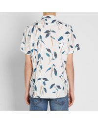 Paul Smith - Blue Botanical Print Short Sleeve Shirt for Men - Lyst