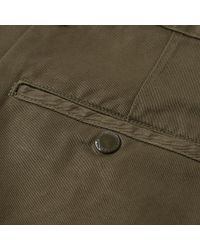(w)taps Green Khaki Tight Chino for men