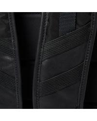 Moncler Black George Leather Backpack for men