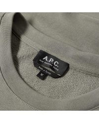 A.P.C. Green Worker Crew Sweat for men