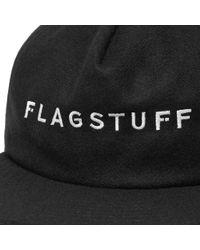 Flagstuff Black Wool Cap for men