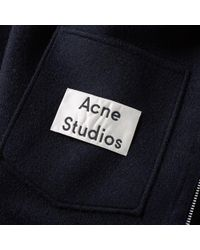 Acne - Blue Maua Cashmere Hooded Jacket for Men - Lyst